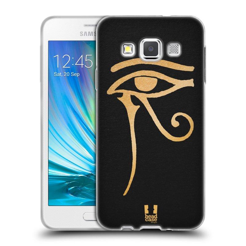 Silikonové pouzdro na mobil Samsung Galaxy A3 HEAD CASE EGYPT OKO BOHA RA (Silikonový kryt či obal na mobilní telefon Samsung Galaxy A3 SM-A300)