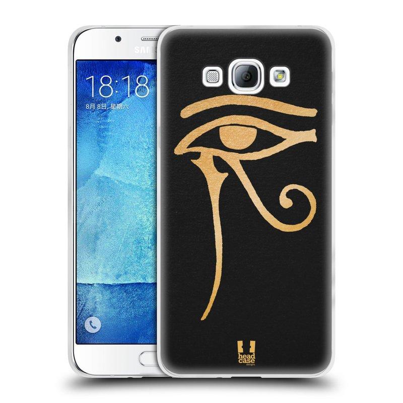 Silikonové pouzdro na mobil Samsung Galaxy A8 HEAD CASE EGYPT OKO BOHA RA (Silikonový kryt či obal na mobilní telefon Samsung Galaxy A8 SM-A800)