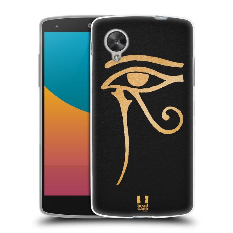 Silikonové pouzdro na mobil LG Nexus 5 HEAD CASE EGYPT OKO BOHA RA (Silikonový kryt či obal na mobilní telefon LG Google Nexus 5 D821)