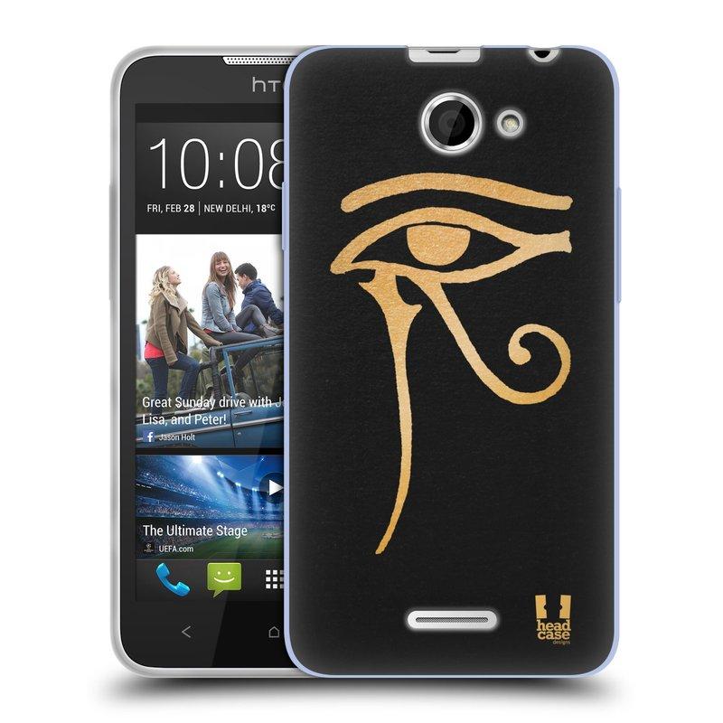 Silikonové pouzdro na mobil HTC Desire 516 HEAD CASE EGYPT OKO BOHA RA (Silikonový kryt či obal na mobilní telefon HTC Desire 516 Dual SIM)