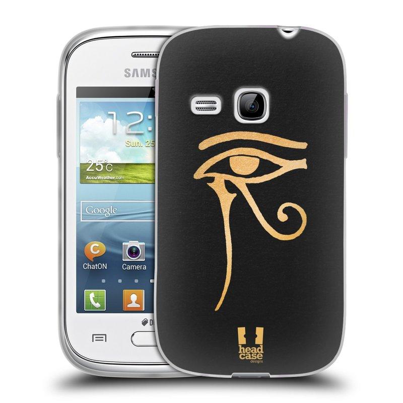 Silikonové pouzdro na mobil Samsung Galaxy Young HEAD CASE EGYPT OKO BOHA RA (Silikonový kryt či obal na mobilní telefon Samsung Galaxy Young GT-S6310)