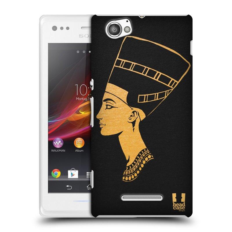Plastové pouzdro na mobil Sony Xperia M C1905 HEAD CASE EGYPT NEFERTITI (Kryt či obal na mobilní telefon Sony Xperia M a M Dual)
