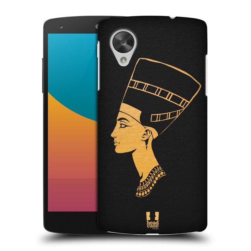 Plastové pouzdro na mobil LG Nexus 5 HEAD CASE EGYPT NEFERTITI (Kryt či obal na mobilní telefon LG Google Nexus 5 D821)