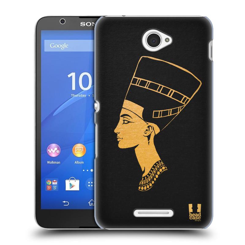 Plastové pouzdro na mobil Sony Xperia E4 E2105 HEAD CASE EGYPT NEFERTITI (Kryt či obal na mobilní telefon Sony Xperia E4 a E4 Dual SIM)