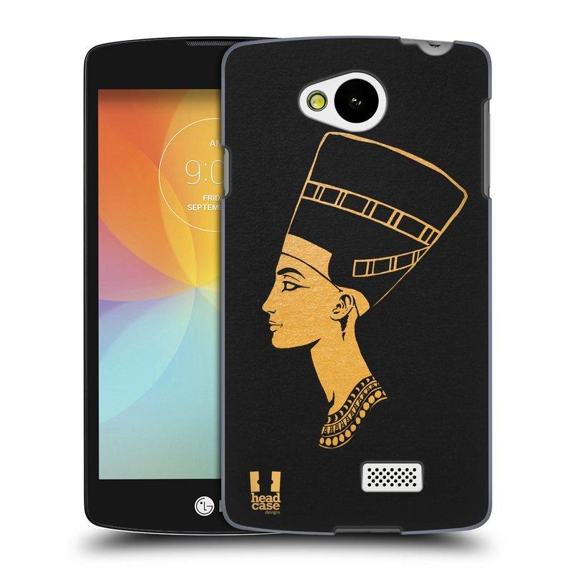 Plastové pouzdro na mobil LG F60 HEAD CASE EGYPT NEFERTITI (Kryt či obal na mobilní telefon LG F60 D390n)