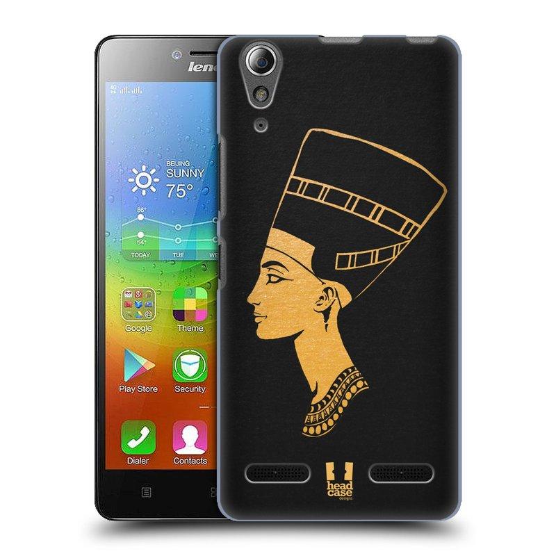 Plastové pouzdro na mobil Lenovo A6000 HEAD CASE EGYPT NEFERTITI (Kryt či obal na mobilní telefon Lenovo A6000 / A6000 Plus)