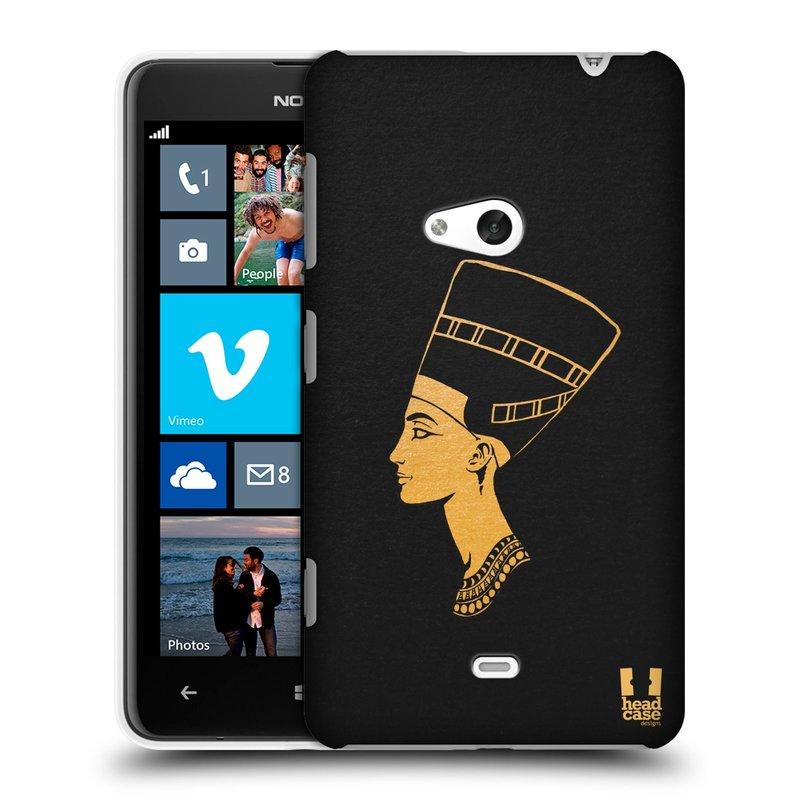 Plastové pouzdro na mobil Nokia Lumia 625 HEAD CASE EGYPT NEFERTITI (Kryt či obal na mobilní telefon Nokia Lumia 625)