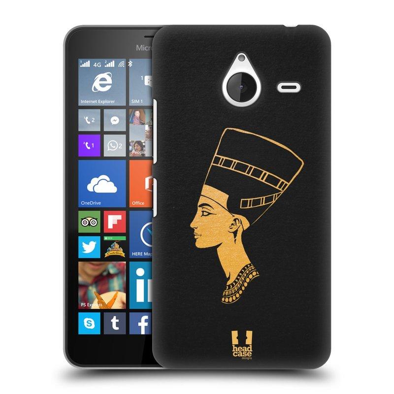 Plastové pouzdro na mobil Microsoft Lumia 640 XL HEAD CASE EGYPT NEFERTITI (Kryt či obal na mobilní telefon Microsoft Lumia 640 XL)