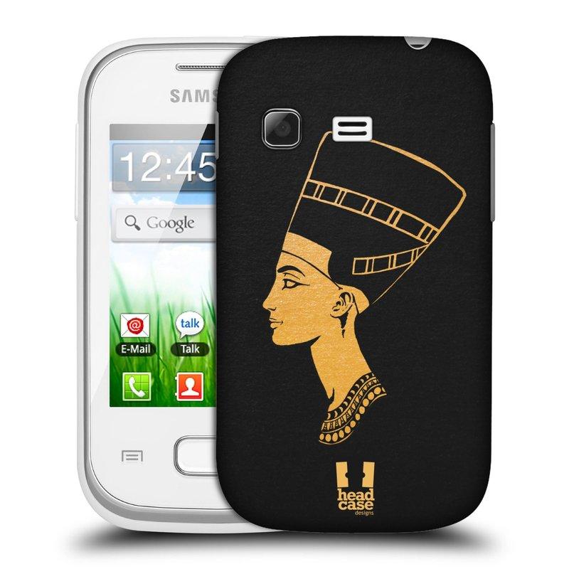 Plastové pouzdro na mobil Samsung Galaxy Pocket HEAD CASE EGYPT NEFERTITI (Kryt či obal na mobilní telefon Samsung Galaxy Pocket GT-S5300)