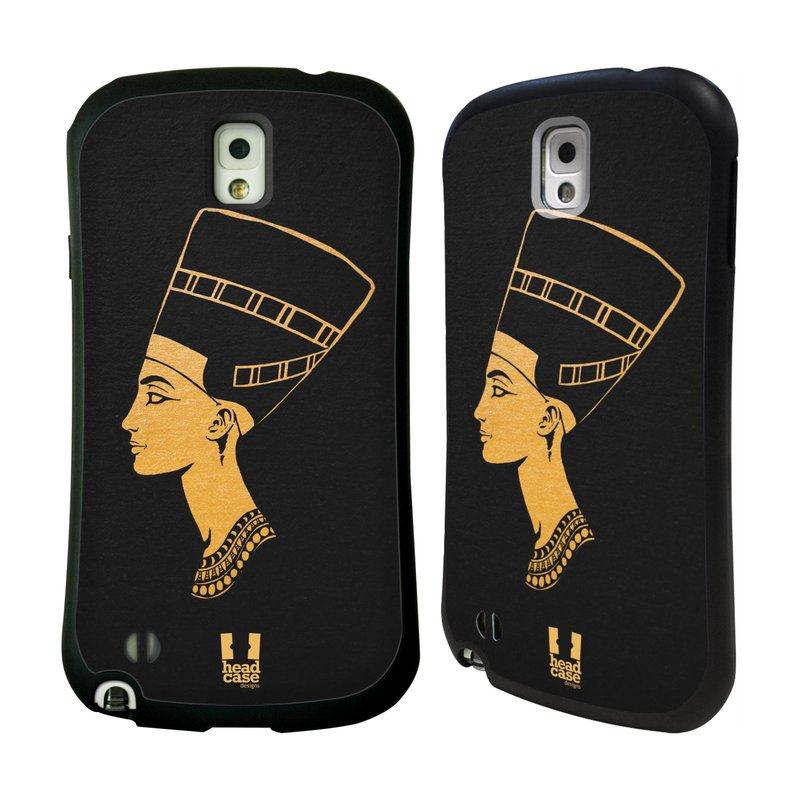 Nárazuvzdorné pouzdro na mobil Samsung Galaxy Note 3 HEAD CASE EGYPT NEFERTITI (Odolný nárazuvzdorný silikonový kryt či obal na mobilní telefon Samsung Galaxy Note 3 SM-N9005)