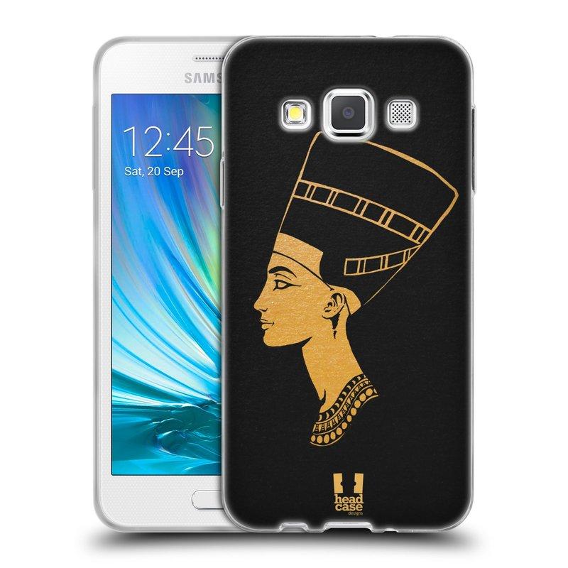 Silikonové pouzdro na mobil Samsung Galaxy A3 HEAD CASE EGYPT NEFERTITI (Silikonový kryt či obal na mobilní telefon Samsung Galaxy A3 SM-A300)