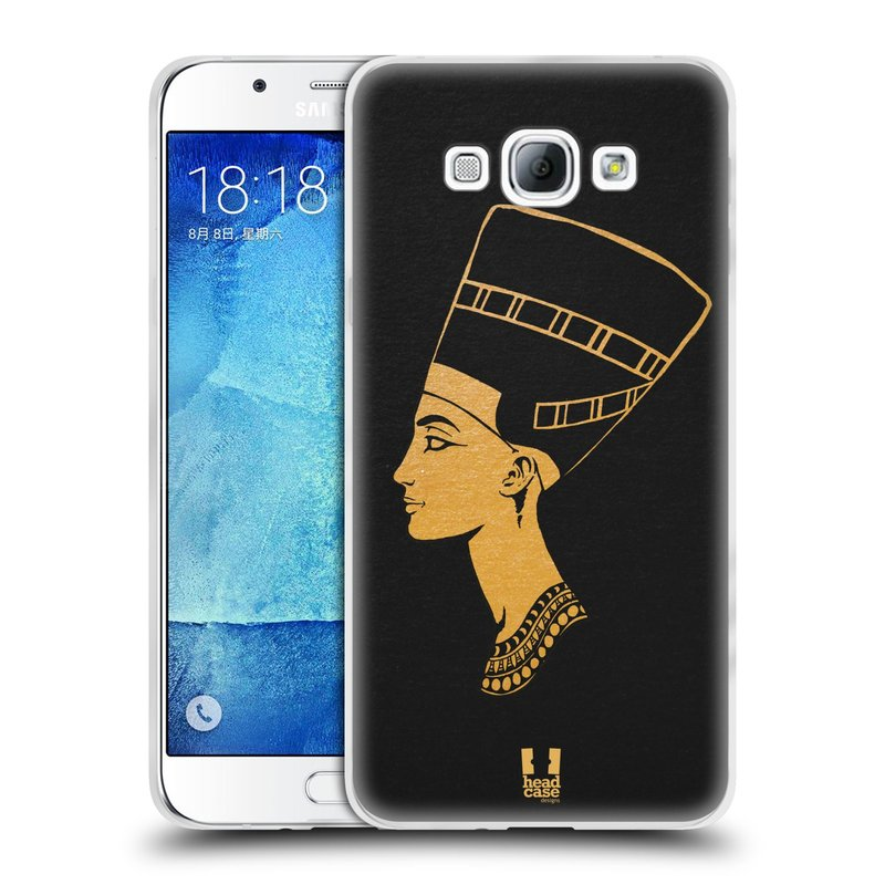 Silikonové pouzdro na mobil Samsung Galaxy A8 HEAD CASE EGYPT NEFERTITI (Silikonový kryt či obal na mobilní telefon Samsung Galaxy A8 SM-A800)