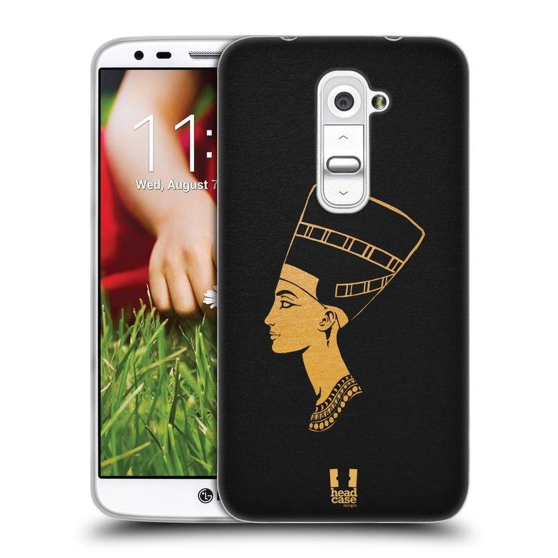 Silikonové pouzdro na mobil LG G2 HEAD CASE EGYPT NEFERTITI (Silikonový kryt či obal na mobilní telefon LG G2 D802)