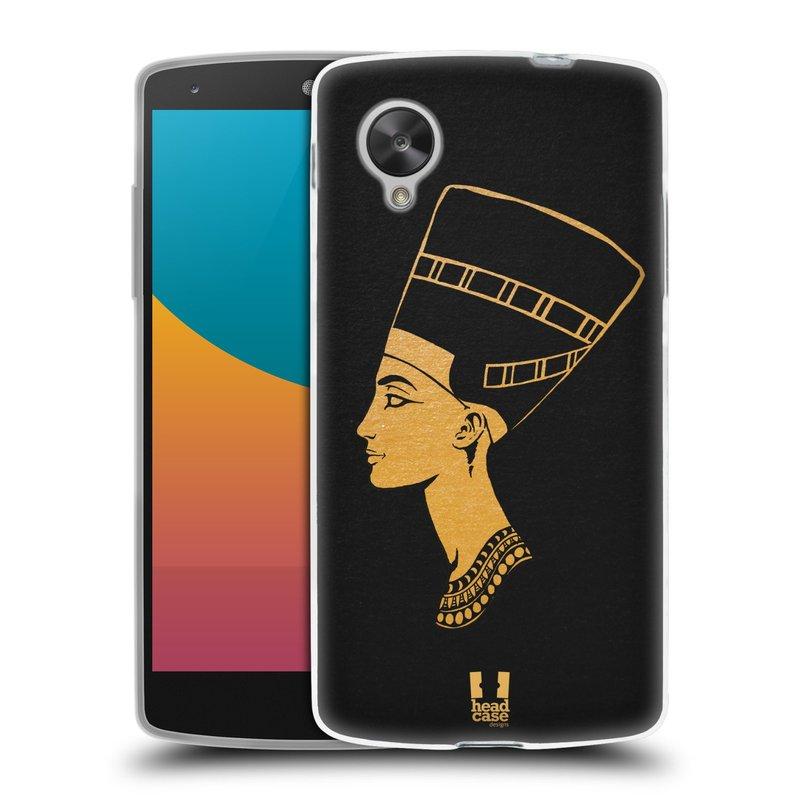 Silikonové pouzdro na mobil LG Nexus 5 HEAD CASE EGYPT NEFERTITI (Silikonový kryt či obal na mobilní telefon LG Google Nexus 5 D821)