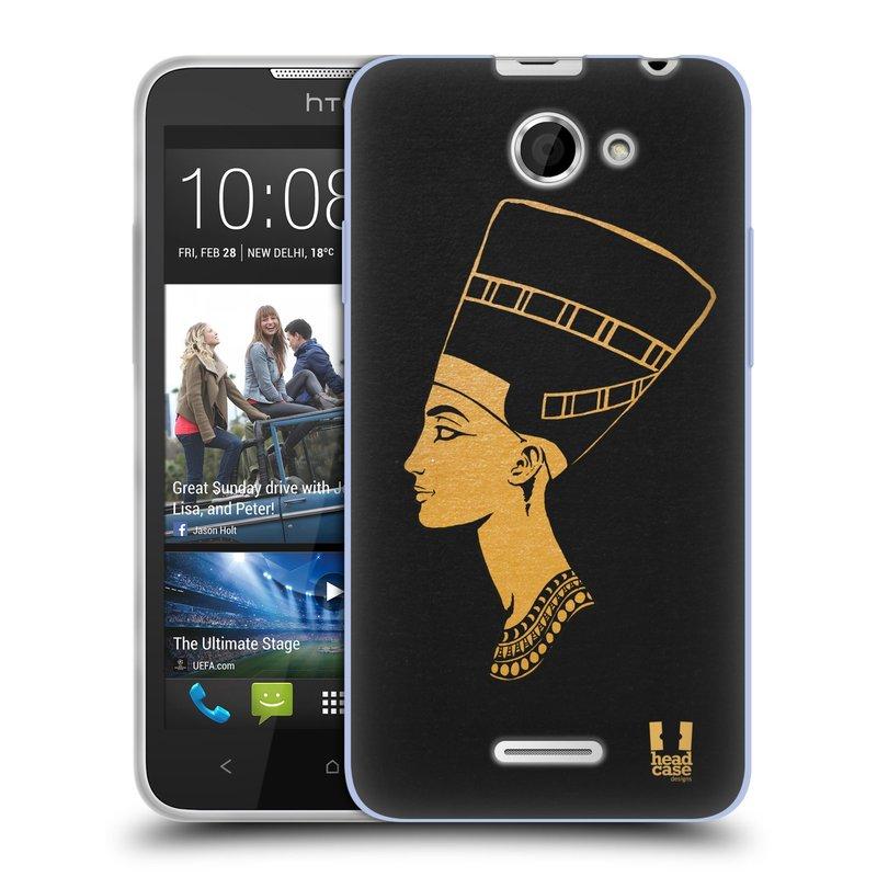 Silikonové pouzdro na mobil HTC Desire 516 HEAD CASE EGYPT NEFERTITI (Silikonový kryt či obal na mobilní telefon HTC Desire 516 Dual SIM)