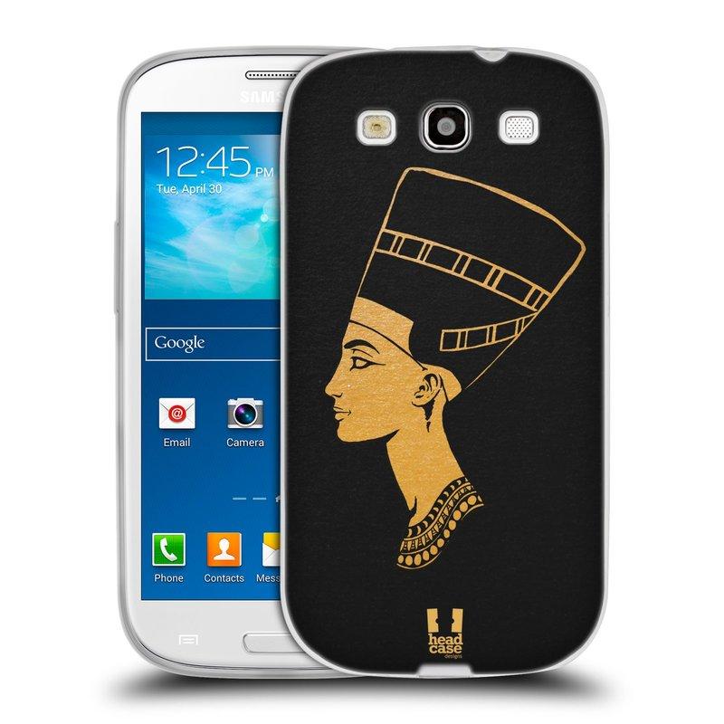 Silikonové pouzdro na mobil Samsung Galaxy S3 Neo HEAD CASE EGYPT NEFERTITI (Silikonový kryt či obal na mobilní telefon Samsung Galaxy S3 Neo GT-i9301i)