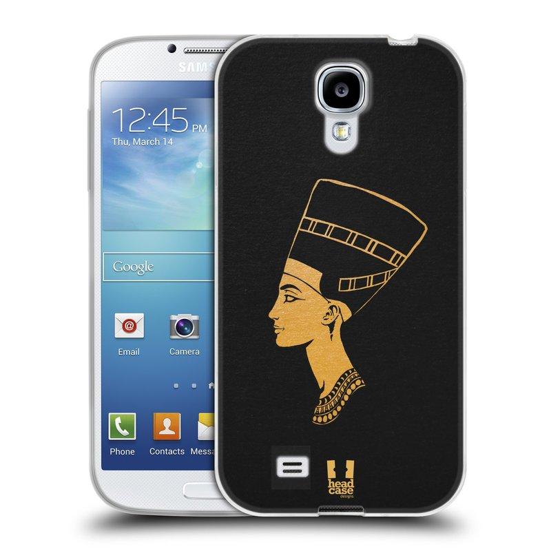 Silikonové pouzdro na mobil Samsung Galaxy S4 HEAD CASE EGYPT NEFERTITI (Silikonový kryt či obal na mobilní telefon Samsung Galaxy S4 GT-i9505 / i9500)