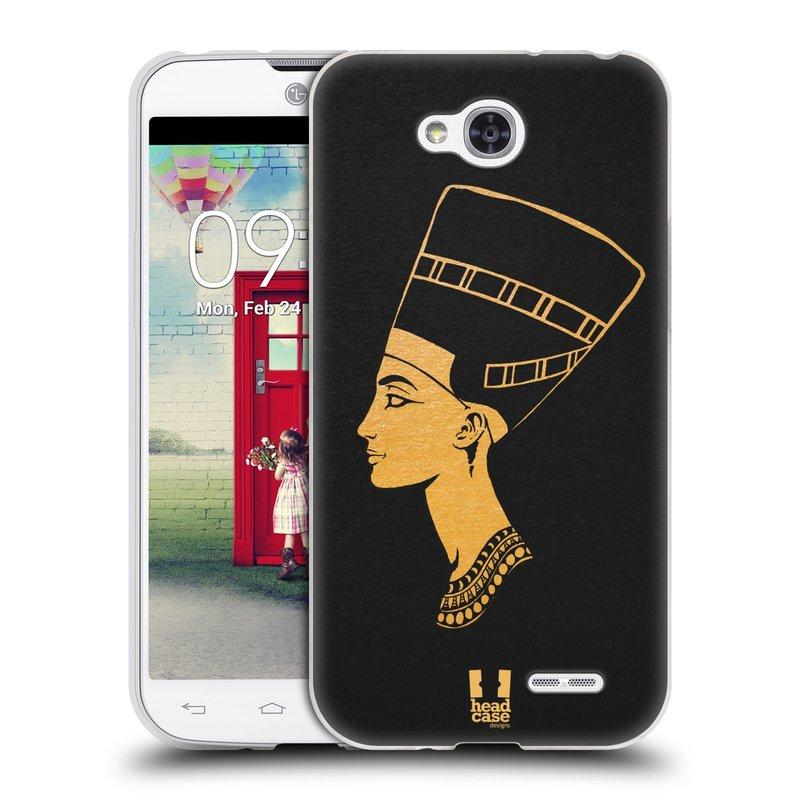 Silikonové pouzdro na mobil LG L90 HEAD CASE EGYPT NEFERTITI (Silikonový kryt či obal na mobilní telefon LG L90 D405n)