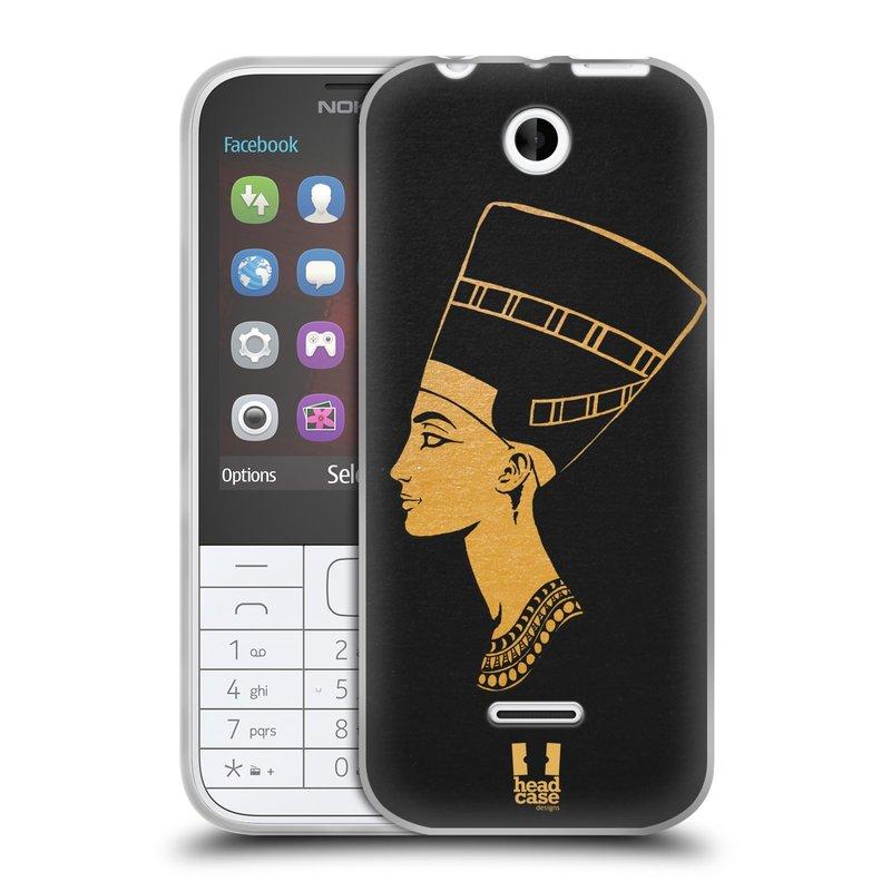 Silikonové pouzdro na mobil Nokia 225 HEAD CASE EGYPT NEFERTITI (Silikonový kryt či obal na mobilní telefon Nokia 225)