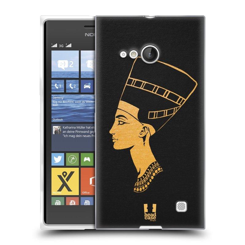 Silikonové pouzdro na mobil Nokia Lumia 730 Dual SIM HEAD CASE EGYPT NEFERTITI (Silikonový kryt či obal na mobilní telefon Nokia Lumia 730 Dual SIM)