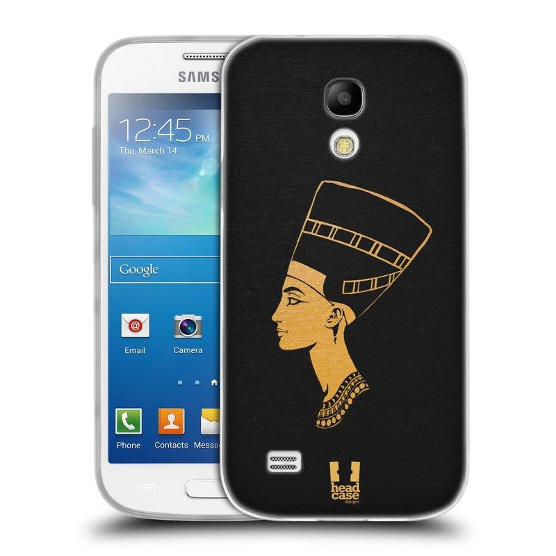 Silikonové pouzdro na mobil Samsung Galaxy S4 Mini HEAD CASE EGYPT NEFERTITI (Silikonový kryt či obal na mobilní telefon Samsung Galaxy S4 Mini GT-i9195 / i9190 (nepasuje na verzi Black Edition))