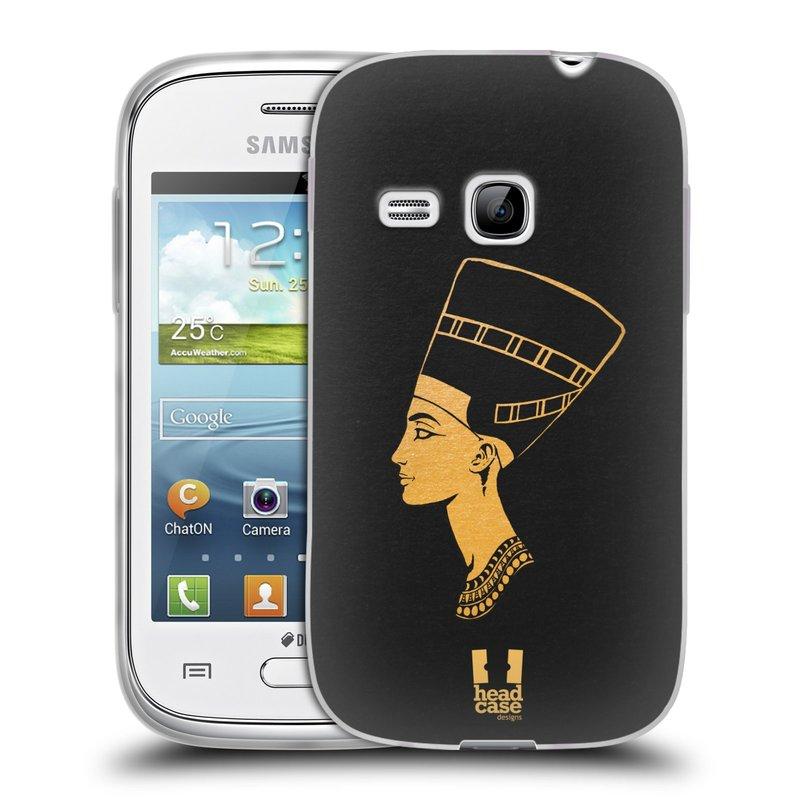 Silikonové pouzdro na mobil Samsung Galaxy Young HEAD CASE EGYPT NEFERTITI (Silikonový kryt či obal na mobilní telefon Samsung Galaxy Young GT-S6310)