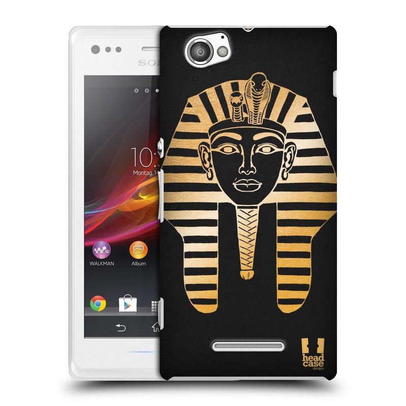 Plastové pouzdro na mobil Sony Xperia M C1905 HEAD CASE EGYPT FARAON (Kryt či obal na mobilní telefon Sony Xperia M a M Dual)