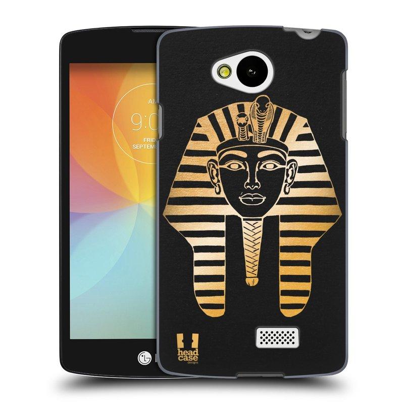 Plastové pouzdro na mobil LG F60 HEAD CASE EGYPT FARAON (Kryt či obal na mobilní telefon LG F60 D390n)