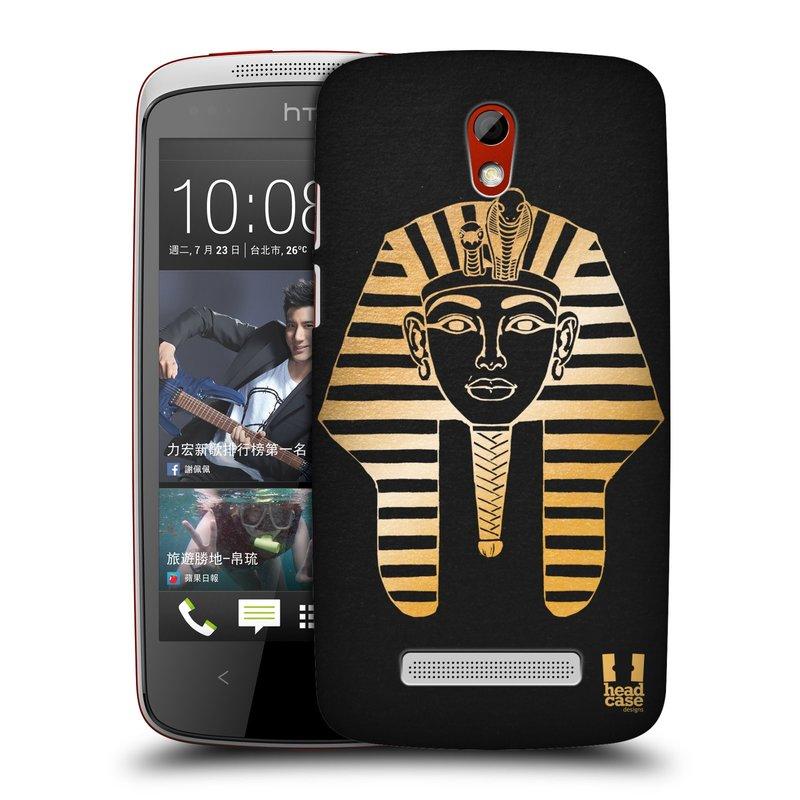 Plastové pouzdro na mobil HTC Desire 500 HEAD CASE EGYPT FARAON (Kryt či obal na mobilní telefon HTC Desire 500)