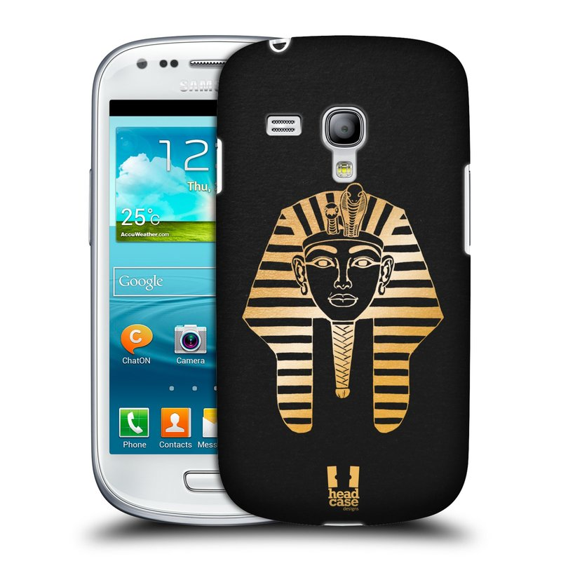 Plastové pouzdro na mobil Samsung Galaxy S III Mini HEAD CASE EGYPT FARAON (Kryt či obal na mobilní telefon Samsung Galaxy S III Mini GT-i8190)