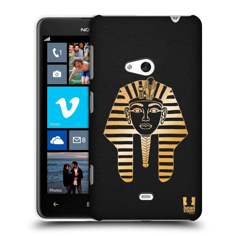 Plastové pouzdro na mobil Nokia Lumia 625 HEAD CASE EGYPT FARAON (Kryt či obal na mobilní telefon Nokia Lumia 625)