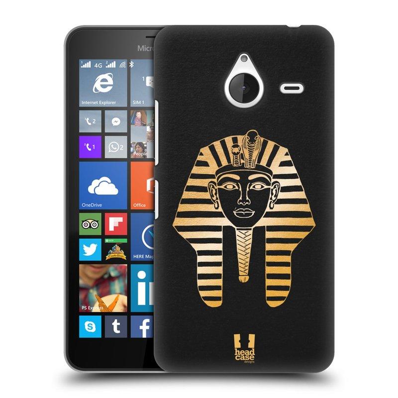Plastové pouzdro na mobil Microsoft Lumia 640 XL HEAD CASE EGYPT FARAON (Kryt či obal na mobilní telefon Microsoft Lumia 640 XL)