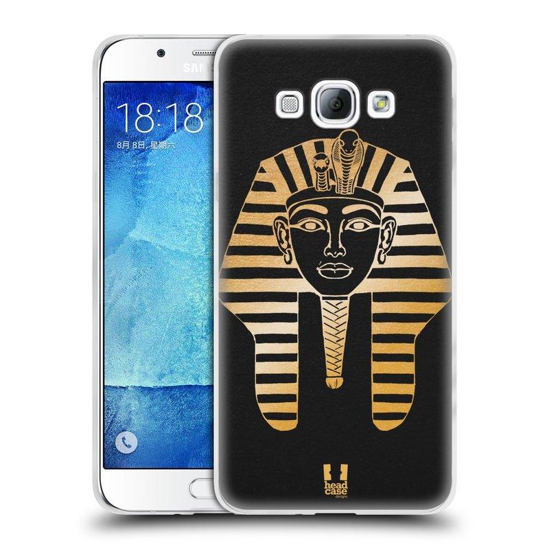 Silikonové pouzdro na mobil Samsung Galaxy A8 HEAD CASE EGYPT FARAON (Silikonový kryt či obal na mobilní telefon Samsung Galaxy A8 SM-A800)