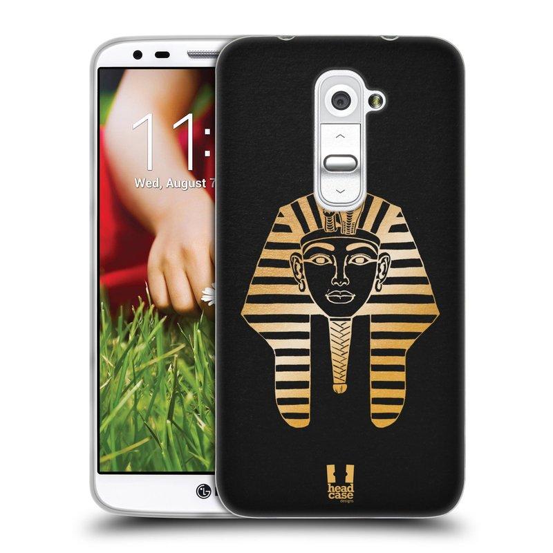 Silikonové pouzdro na mobil LG G2 HEAD CASE EGYPT FARAON (Silikonový kryt či obal na mobilní telefon LG G2 D802)