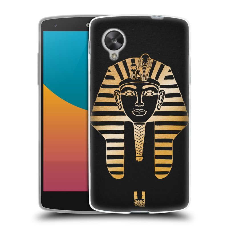 Silikonové pouzdro na mobil LG Nexus 5 HEAD CASE EGYPT FARAON (Silikonový kryt či obal na mobilní telefon LG Google Nexus 5 D821)