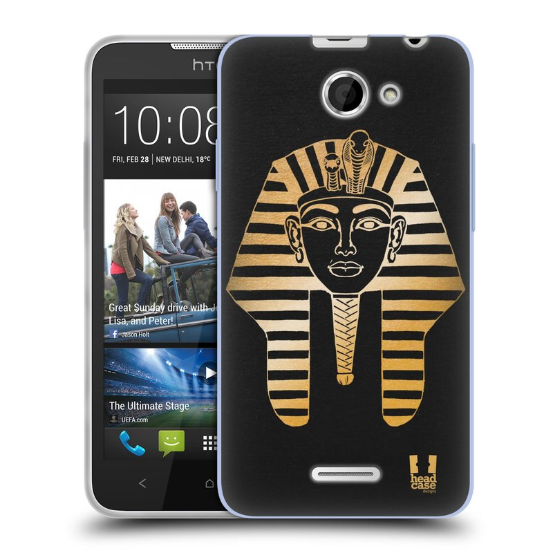 Silikonové pouzdro na mobil HTC Desire 516 HEAD CASE EGYPT FARAON (Silikonový kryt či obal na mobilní telefon HTC Desire 516 Dual SIM)