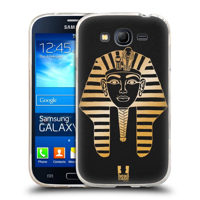 Silikonové pouzdro na mobil Samsung Galaxy Grand Neo HEAD CASE EGYPT FARAON (Silikonový kryt či obal na mobilní telefon Samsung Galaxy Grand Neo GT-I9060)