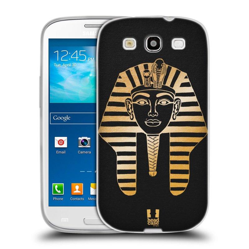 Silikonové pouzdro na mobil Samsung Galaxy S3 Neo HEAD CASE EGYPT FARAON (Silikonový kryt či obal na mobilní telefon Samsung Galaxy S3 Neo GT-i9301i)