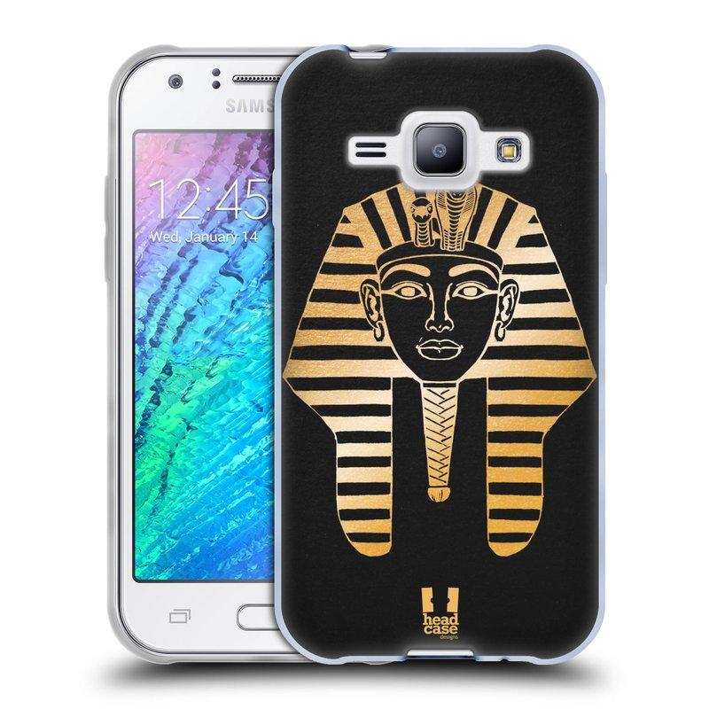 Silikonové pouzdro na mobil Samsung Galaxy J1 HEAD CASE EGYPT FARAON (Silikonový kryt či obal na mobilní telefon Samsung Galaxy J1 a J1 Duos)