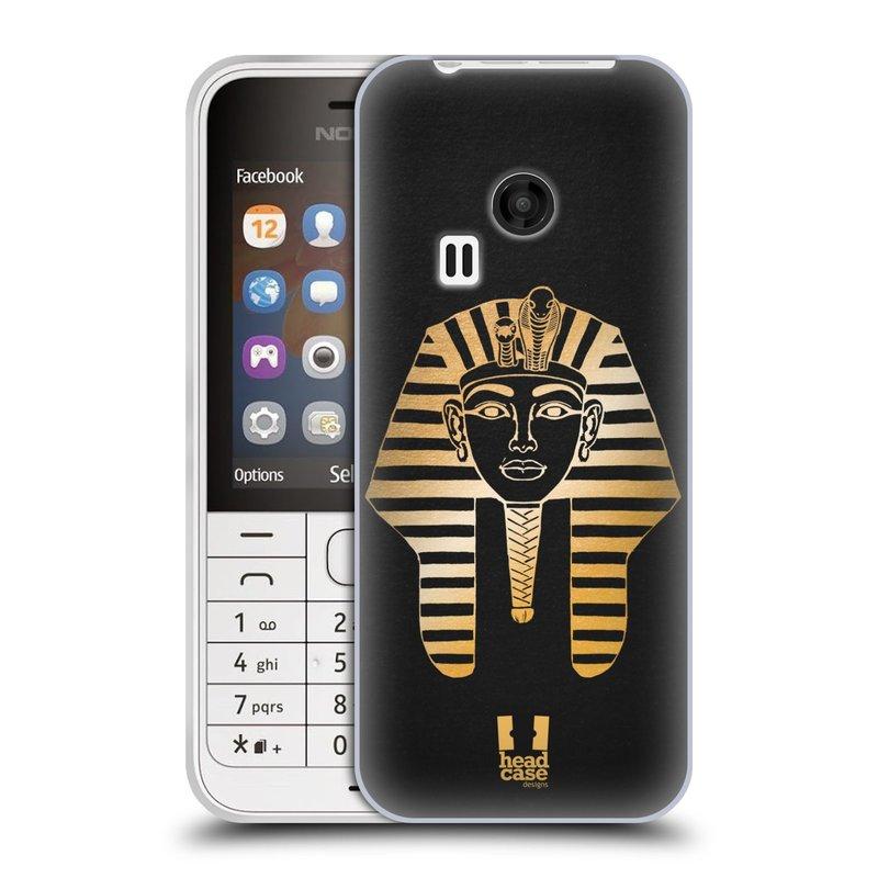 Silikonové pouzdro na mobil Nokia 220 HEAD CASE EGYPT FARAON (Silikonový kryt či obal na mobilní telefon Nokia 220 a 220 Dual SIM)