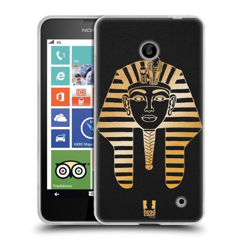 Silikonové pouzdro na mobil Nokia Lumia 630 HEAD CASE EGYPT FARAON (Silikonový kryt či obal na mobilní telefon Nokia Lumia 630 a Nokia Lumia 630 Dual SIM)