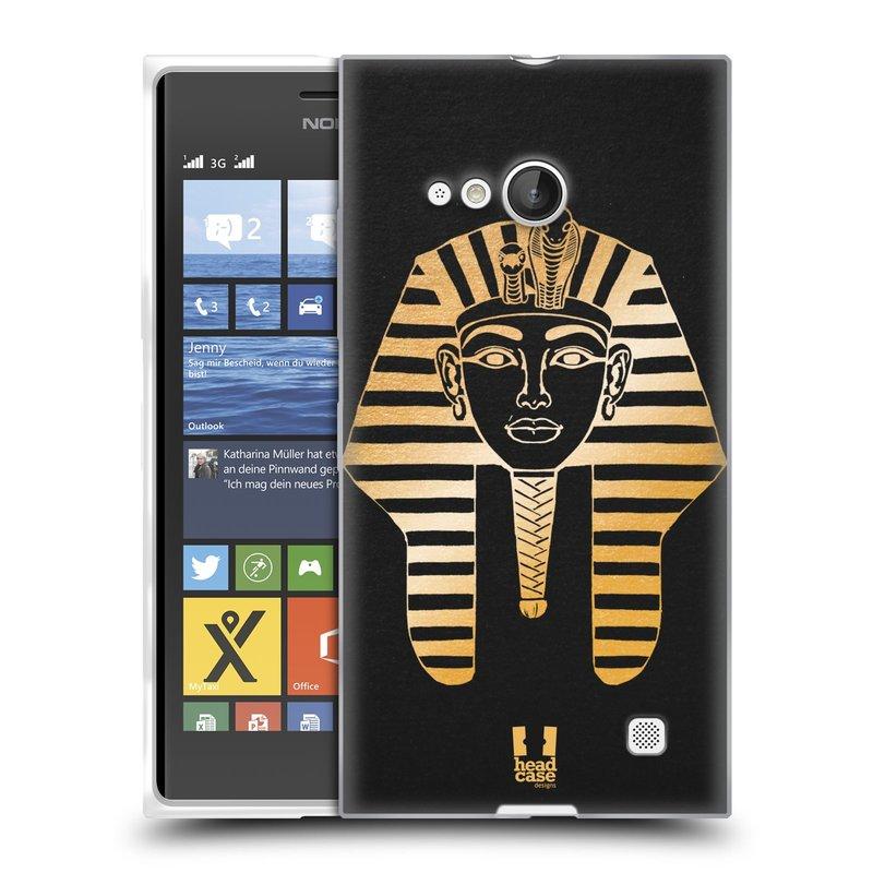 Silikonové pouzdro na mobil Nokia Lumia 730 Dual SIM HEAD CASE EGYPT FARAON (Silikonový kryt či obal na mobilní telefon Nokia Lumia 730 Dual SIM)
