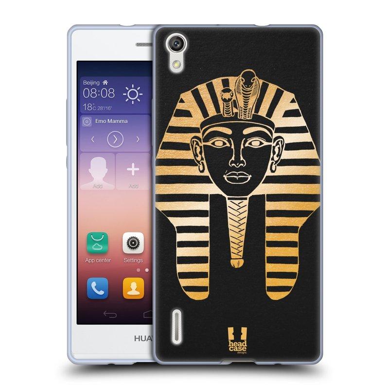 Silikonové pouzdro na mobil Huawei P7 HEAD CASE EGYPT FARAON (Silikonový kryt či obal na mobilní telefon Huawei Ascend P7)