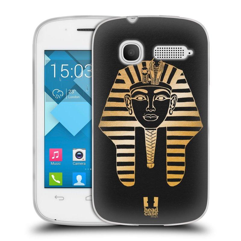Silikonové pouzdro na mobil Alcatel One Touch Pop C1 HEAD CASE EGYPT FARAON (Silikonový kryt či obal na mobilní telefon Alcatel OT-4015D POP C1)