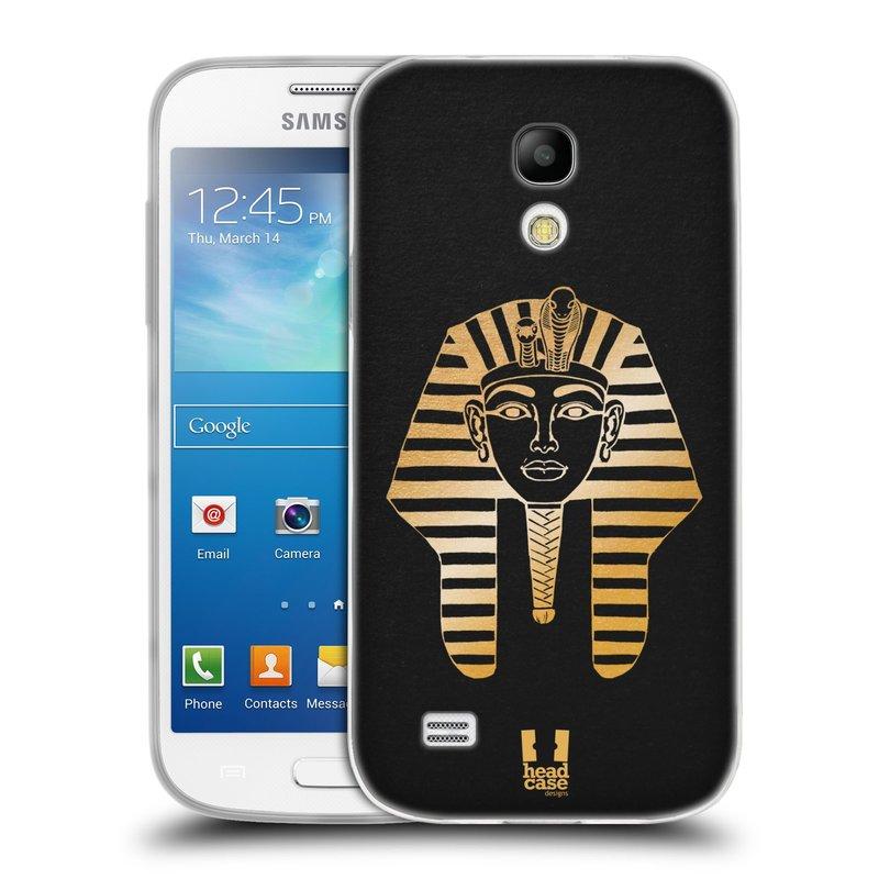 Silikonové pouzdro na mobil Samsung Galaxy S4 Mini HEAD CASE EGYPT FARAON (Silikonový kryt či obal na mobilní telefon Samsung Galaxy S4 Mini GT-i9195 / i9190 (nepasuje na verzi Black Edition))