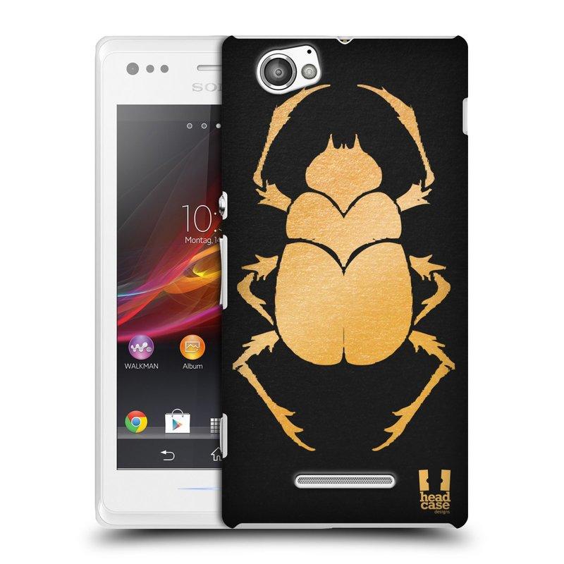Plastové pouzdro na mobil Sony Xperia M C1905 HEAD CASE EGYPT SCARABEUS (Kryt či obal na mobilní telefon Sony Xperia M a M Dual)
