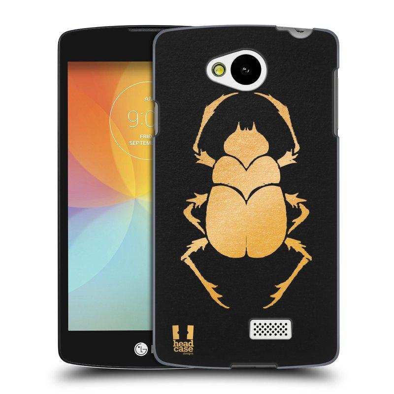 Plastové pouzdro na mobil LG F60 HEAD CASE EGYPT SCARABEUS (Kryt či obal na mobilní telefon LG F60 D390n)