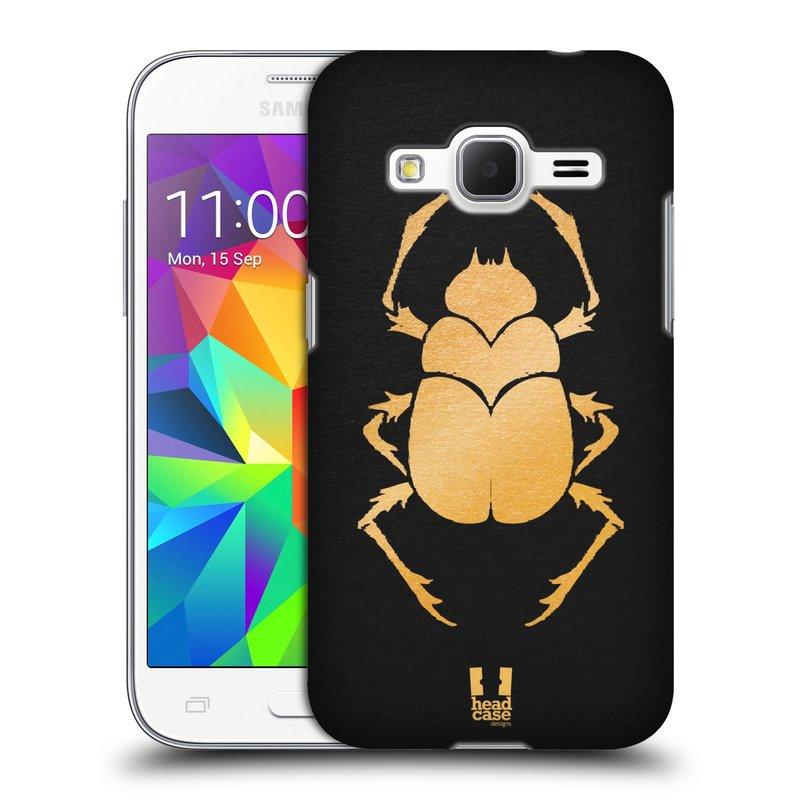 Plastové pouzdro na mobil Samsung Galaxy Core Prime LTE HEAD CASE EGYPT SCARABEUS (Kryt či obal na mobilní telefon Samsung Galaxy Core Prime LTE SM-G360)