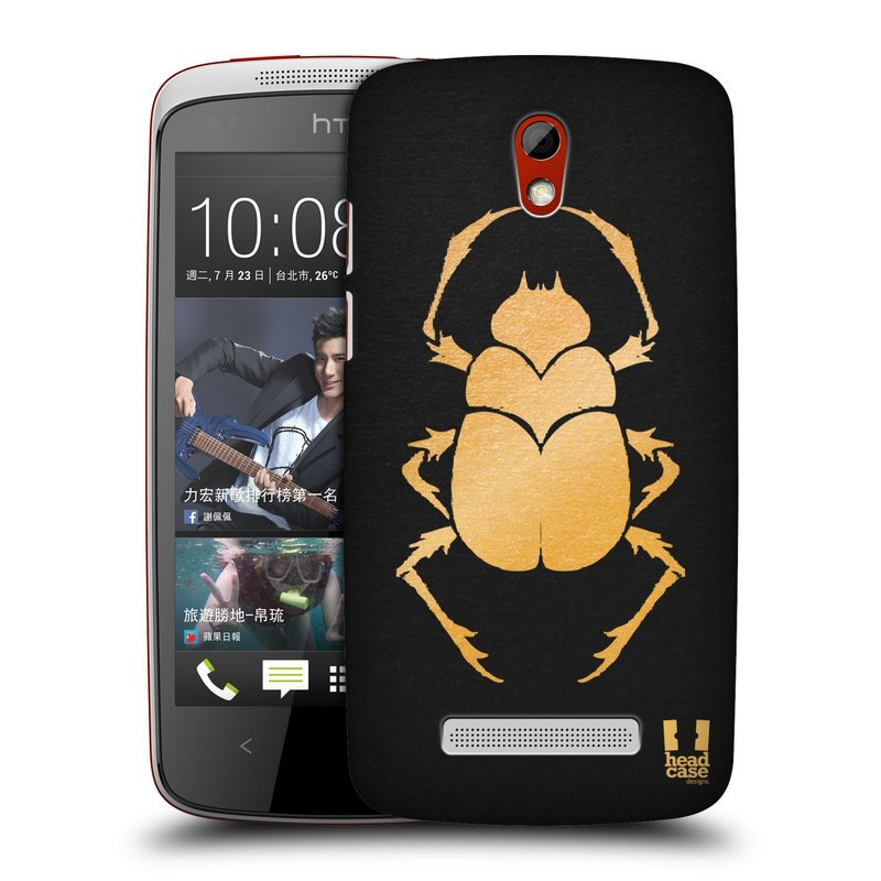 Plastové pouzdro na mobil HTC Desire 500 HEAD CASE EGYPT SCARABEUS (Kryt či obal na mobilní telefon HTC Desire 500)
