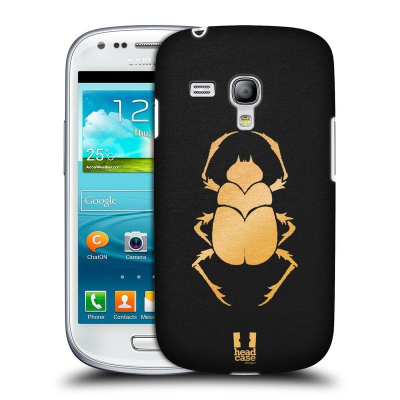 Plastové pouzdro na mobil Samsung Galaxy S III Mini HEAD CASE EGYPT SCARABEUS (Kryt či obal na mobilní telefon Samsung Galaxy S III Mini GT-i8190)